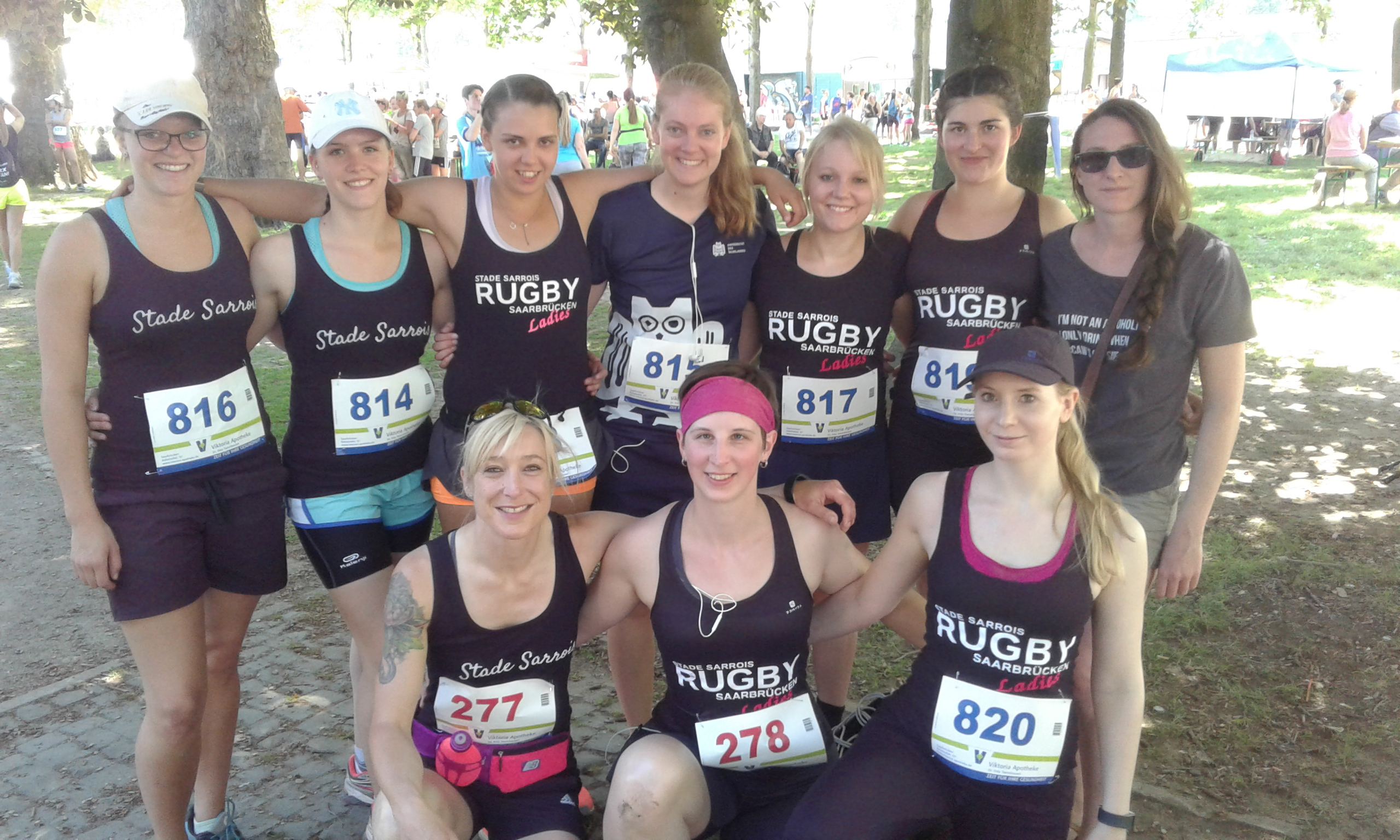 Stade Sarrois Rugby LAdies beim 16. Saarbrücker Frauenlauf