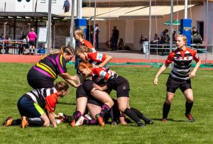 1. Turniertag 2018/19 in Stuttgart Stade Sarrois Rugby Ladies gegen RC Rottweil