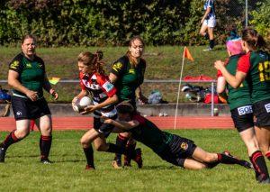 1. Turniertag 2018/19 in Stuttgart Stade Sarrois Rugby Ladies gegen Karlsruher SV