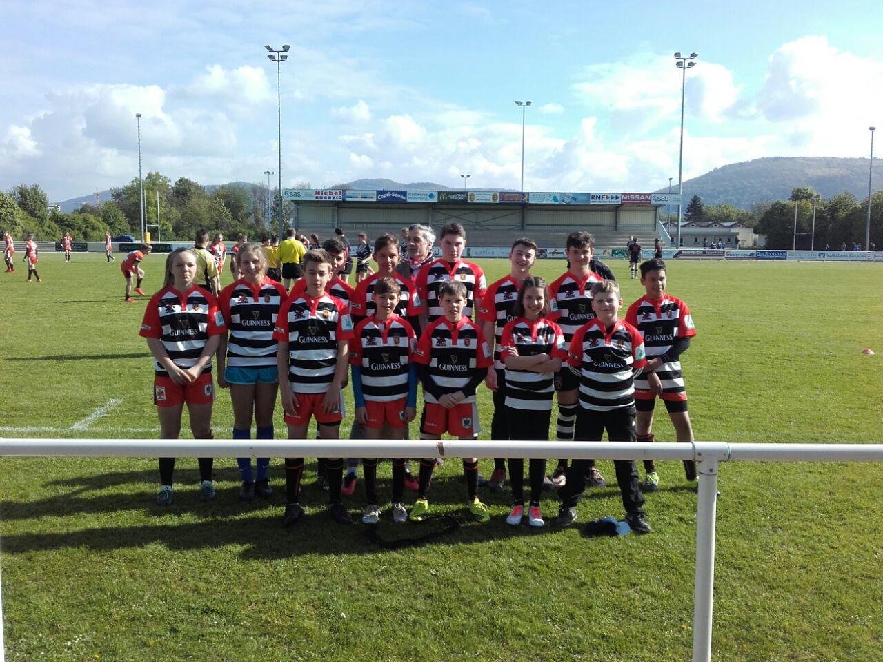 Stade Sarrois Rugby Saarbrücken Jugendmannschaft mit Trainer Martin Patton